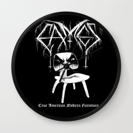 Modern Black Metal Wall Clock