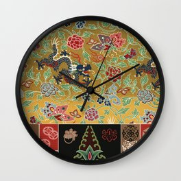 Vintage Litography - Chinese & Japanese Wall Clock
