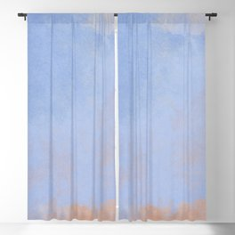 Minimal Abstract Light Blue Colorfield Painting 02 Blackout Curtain