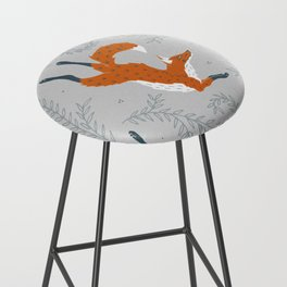 Fox in the Snow Bar Stool