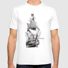 Grand Turk MEDIUM Mens Fitted Tee White