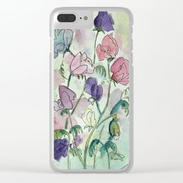 Sweet pea infusion Clear iPhone Case