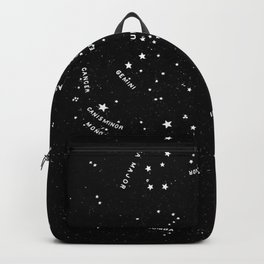 Star Map Black and White - Let's Go See The Stars Backpack