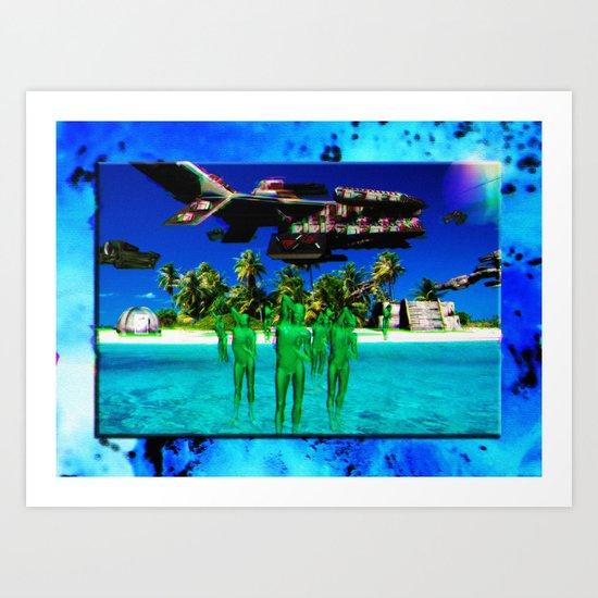 Genesis II: The Return (collaboration w/ Ricardo Stacey) Art Print