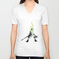 dragon age inquisition V-neck T-shirts featuring Dragon age inquisition by Ioana Muresan