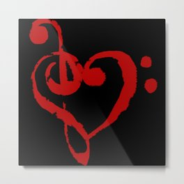 The Treble With Love Metal Print