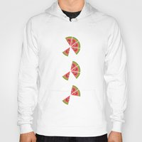 watermelon Hoodies featuring Watermelon  by brocoli art print