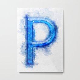 P Letter Metal Print