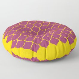 Chic Moroccan Quatrefoil Deep purple  Floor Pillow