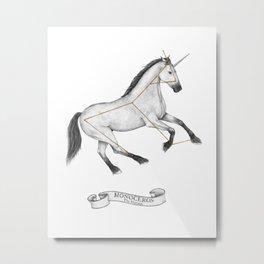 Unicorn Constellation Metal Print