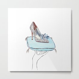 Cinderella slipper Metal Print