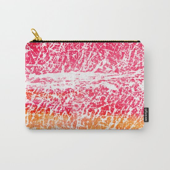 Red and yellow abstract texture Carry-All Pouch