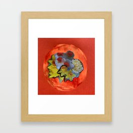 Garden Circle - Orange Framed Art Print
