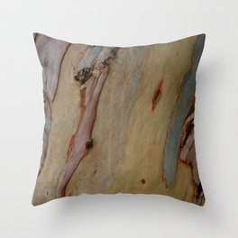 Eucalyptus tree bark Throw Pillow