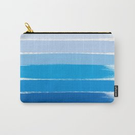 Kent - blue ombre brush strokes art Carry-All Pouch