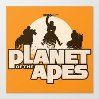 planet of the apes Canvas Prints featuring Planet of the Apes by leea1968