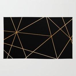 Geometric black gold Rug