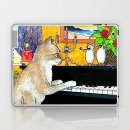 Cat Playing piano Laptop & iPad Skin