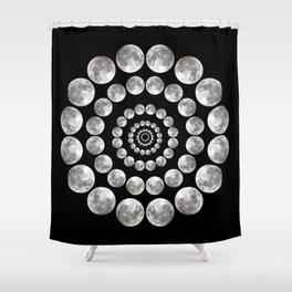 Moon Mandala Shower Curtain