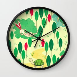 Hare and Tortoise Wall Clock