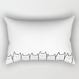 Day Cats Rectangular Pillow