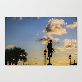 Man of the hour Canvas Print