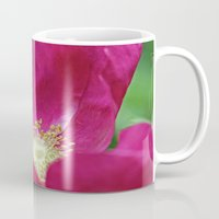 hot pink Mugs featuring Hot Pink by Astrid Ewing