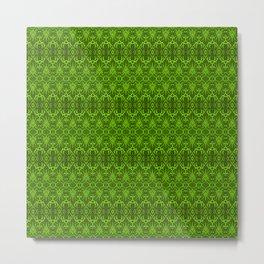 Emerald Damask Pattern Metal Print