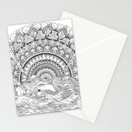 Spaghetti Sunrise Stationery Cards