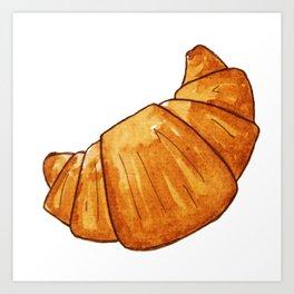 watercolor croissant Art Print