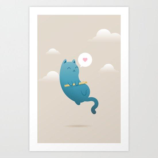 The Floating Cat Art Print