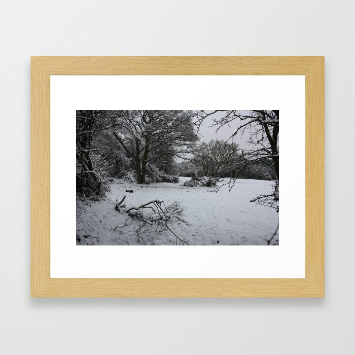 Landpark Wood Framed Art Print