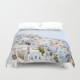 Fira, Santorini Greece Duvet Cover