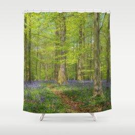 Woodland Bluebells Shower Curtain
