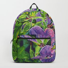 Six Wild Geraniums Backpack