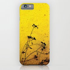 Minimal flora - Yellow wall and flowers Slim Case iPhone 6s