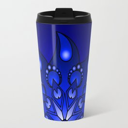 Extreme blue mandala Travel Mug