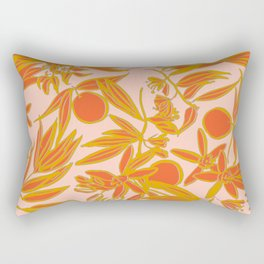 Orange Blossoms on Peach Rectangular Pillow