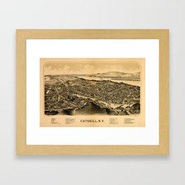 Map Of Catskill 1889 Framed Art Print