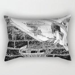 Black and white basketball artwork Rectangular Pillow