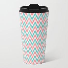 Pink & Blue Chevrons Travel Mug