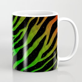 Ripped SpaceTime Stripes - Red/Green Coffee Mug