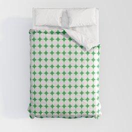 Green & white circles pattern 01 Comforters