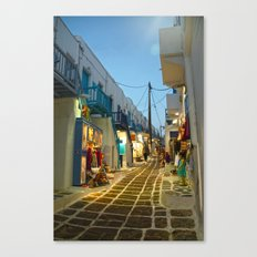 Squarish Grey Tiles, Squarish White Buildings Canvas Print