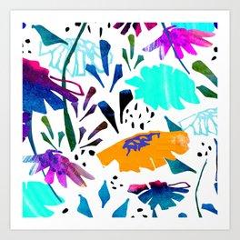 Daisy Days Blue Art Print