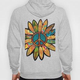 Earthy Peace Flower Hoody
