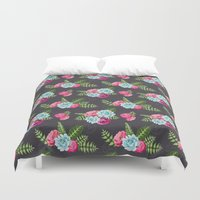 flower pattern Duvet Covers featuring Flower Pattern by eARTh