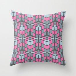 cascade - pink Throw Pillow