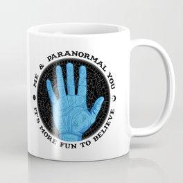 Me & Paranormal You - James Roper Design - Palmistry (black lettering) Coffee Mug