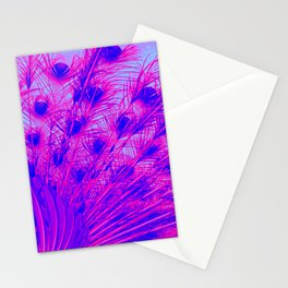 Peacock from behind Stationery Cards